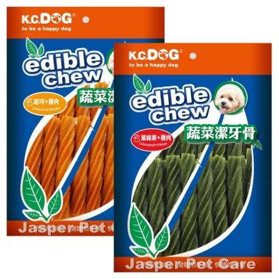 K.C.DOG荷蘭《螺旋潔牙骨-長支20入》兩種口味 三包入
