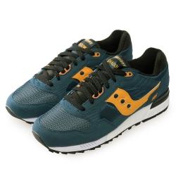 (男) 美國 SAUCONY 經典時尚休閒輕量慢跑球鞋-黃藍