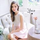 東京著衣-yoco 浪漫女孩拼接小洋裝-S.M(共二色)