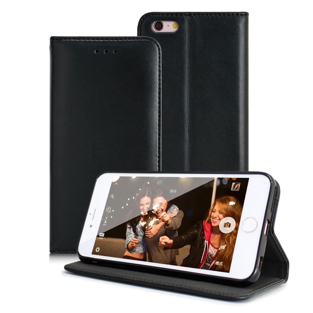 X mart iphone 6 plus / 6s plus 精美小羊皮真皮隱扣皮套