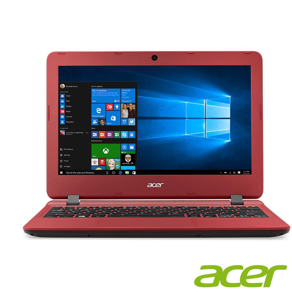 acer ES1-132-C1MZ 11.6吋筆電N3350 2G 32G O365紅