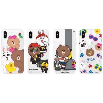 GARMMA LINE Friends iPhone X 防摔軟殼-搖滾系列