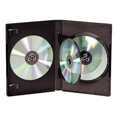 DigiStone 四片裝DVD光碟片精裝優質軟盒/黑色 100PCS