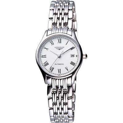 LONGINES Lyre 琴韻 羅馬美人機械腕錶-白/25mm