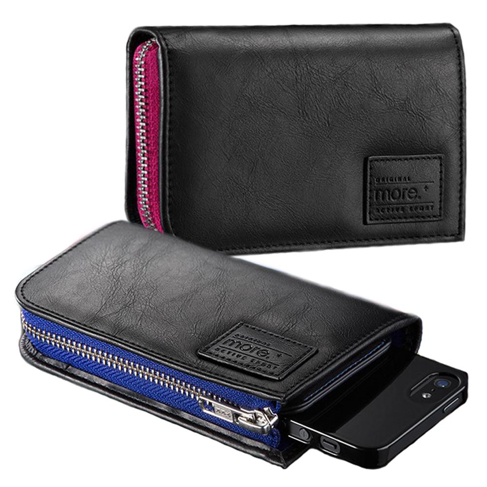more. iPhone5/5S/SE專用 兩件式零錢包款式皮套