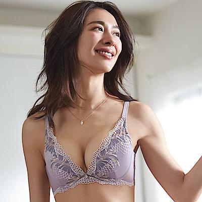 蕾黛絲-歐若拉V真水 D罩杯內衣(絲絨紫)