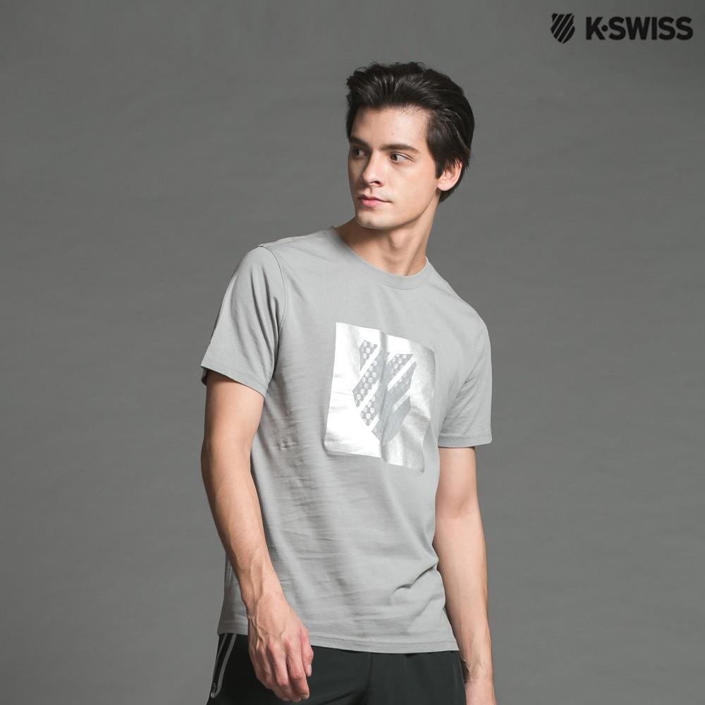 K-Swiss A/O PTT W/rf Logo印花短袖T恤-男-灰