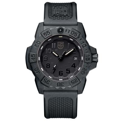 LUMINOX 雷明時NAVY SEAL 3500全新海豹2代系列腕錶-黑x黑時標/45m