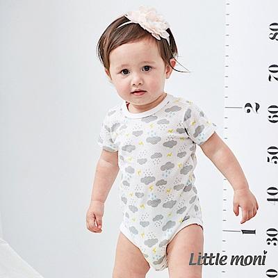 Little moni 家居系列短袖包屁衣 (3色可選)