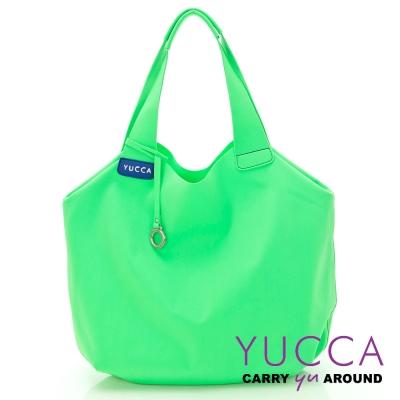 YUCCA - 防潑水尼龍側/肩背包-檸檬綠色 D0060043099