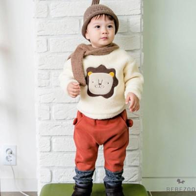 BEBEZOO 韓國 小獅子動物造型厚款長袖套裝2件組