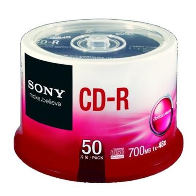 SONY CD-R 48X 700MB 白金片 桶裝 (50片)