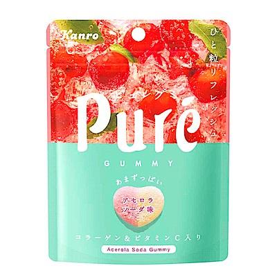 Kanro甘樂 Pure鮮果實夾餡軟糖-西印度櫻桃蘇打(56g)