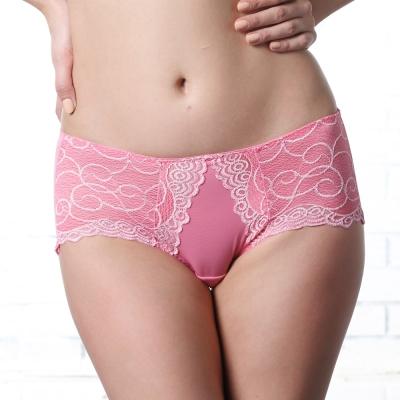LADY 深線魅力系列 機能調整型 低腰平口褲(甜心粉)