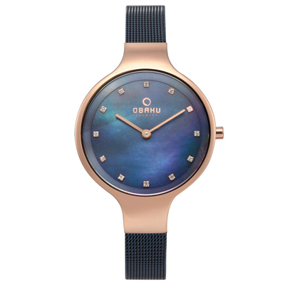 OBAKU 星光眷戀米蘭時尚腕錶-V173LXVLML/33mm