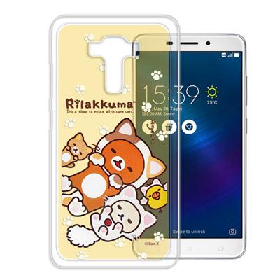 日本授權拉拉熊 華碩 ZenFone3 Laser ZC551KL變裝彩繪手機殼(狐狸黃)