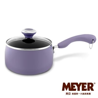 MEYER-美國美亞FARBERWARE彩貝不沾單柄湯鍋16CM-薰衣草紫-含蓋