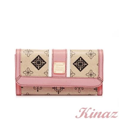 KINAZ-妝點浪漫長夾-粉紅色沙灘系列-福利品