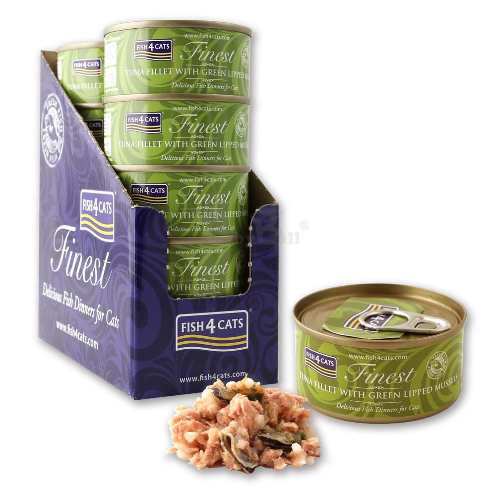 海洋之星FISH4CATS、鮪魚綠唇貝貓罐 70g 、10罐/盒