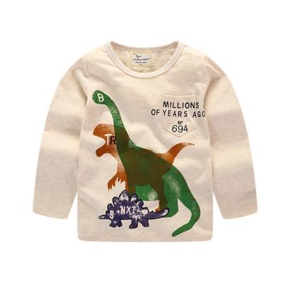 歐美風 男童 純棉長袖T恤-恐龍