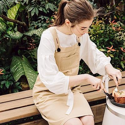 CACO-學院風純色吊帶裙(兩色)-女【PSH160】
