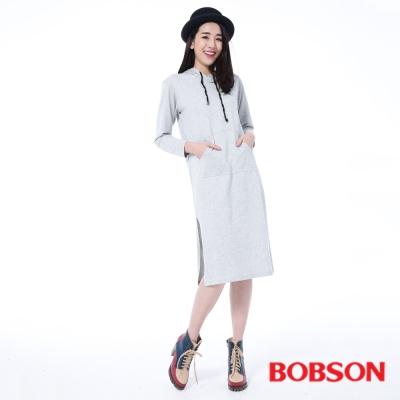 BOBSON  女款連帽長版上衣