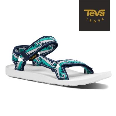 TEVA 美國-男 Original Universal 織帶涼鞋 (波浪白)