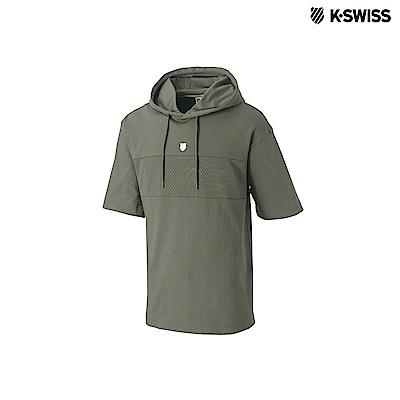 K-Swiss Hooded Short Sleeve短袖連帽上衣-男-軍綠
