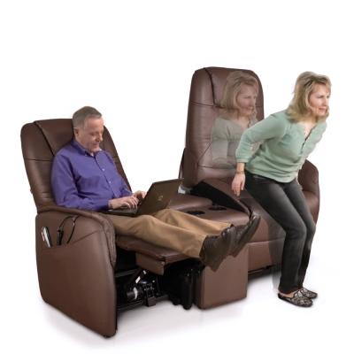 Sun Pin-亞爾諾特厚牛皮雙人雙電動起身椅-摩卡棕 W168*D159*H105cm