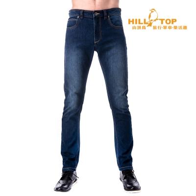 【hilltop山頂鳥】男款保暖牛仔褲H31MK0藍