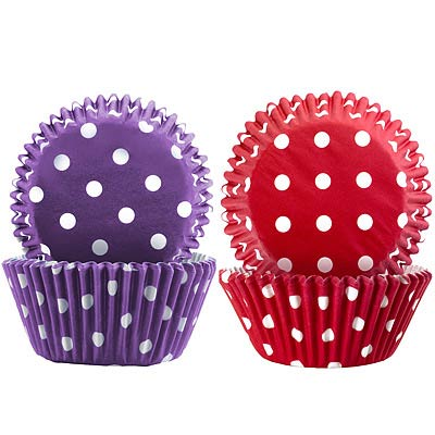 IBILI Sweet蛋糕紙模100入(紅紫白點7.5cm)
