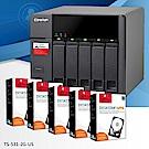 QNAP TS-531P-2G 5Bay網路儲存伺服器+HGST 4TB NAS專用硬碟