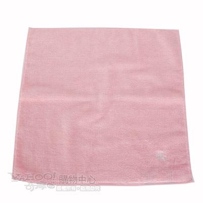 BURBERRY高爾夫球素面小方巾-粉紅