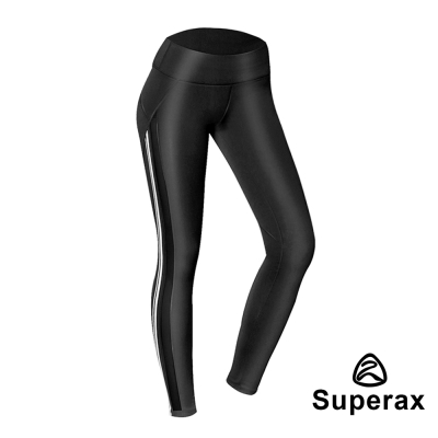 Superax WPL-23 彈性網紗透膚拼接運動緊身褲 9分褲