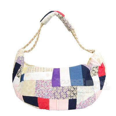 CHANEL-風格走秀設計拼布船型肩背包-多色