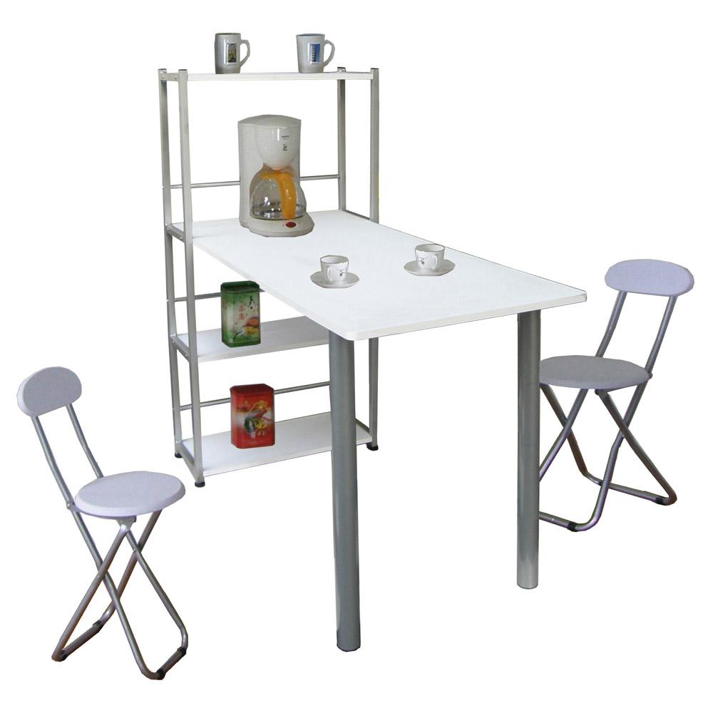Dr.DIY置物架型-餐桌椅組一桌二椅二色可選