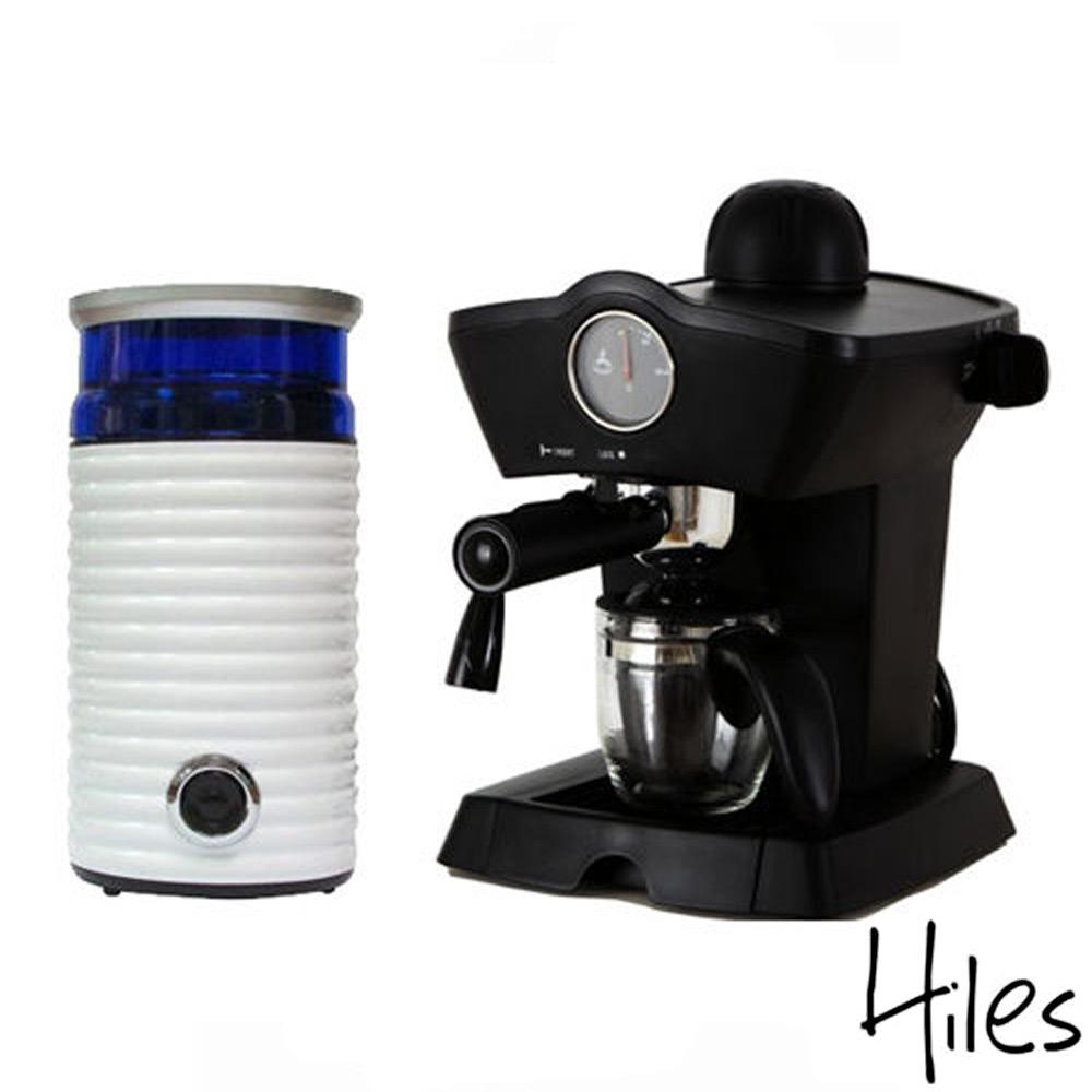 Hiles皇家尊爵組 皇家義式咖啡機+電動磨豆機HE-303+HE-386W2