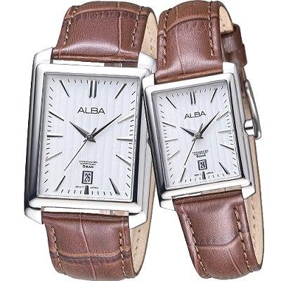 ALBA 美麗時光情人石英對錶(AS9B61X1+AH7J79X1)-銀白/32+22mm