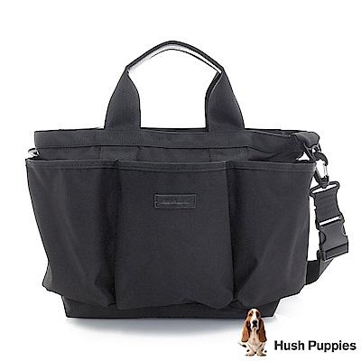 Hush Puppies JUNKO 防潑水帆布托特包-黑
