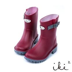 iki2童鞋-俏皮冒險家防水兒童雨靴-紅