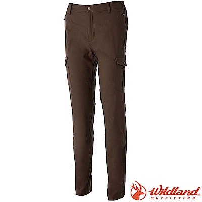 Wildland 荒野 0A52396-63深卡其 男RE合身保暖褲