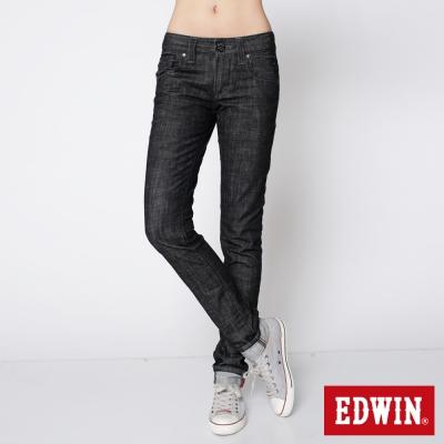 EDWIN MISS 503袋蓋窄直筒牛仔褲_女_黑色