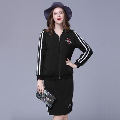 大尺碼-休閒款內刷毛兩件式套裝-Reko-Fashion