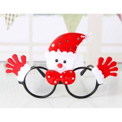 摩達客 聖誕派對造型眼鏡-紅雪人雙手