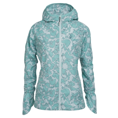 hilltop山頂鳥-女款抗UV口袋衣S02F74-淺綠印花