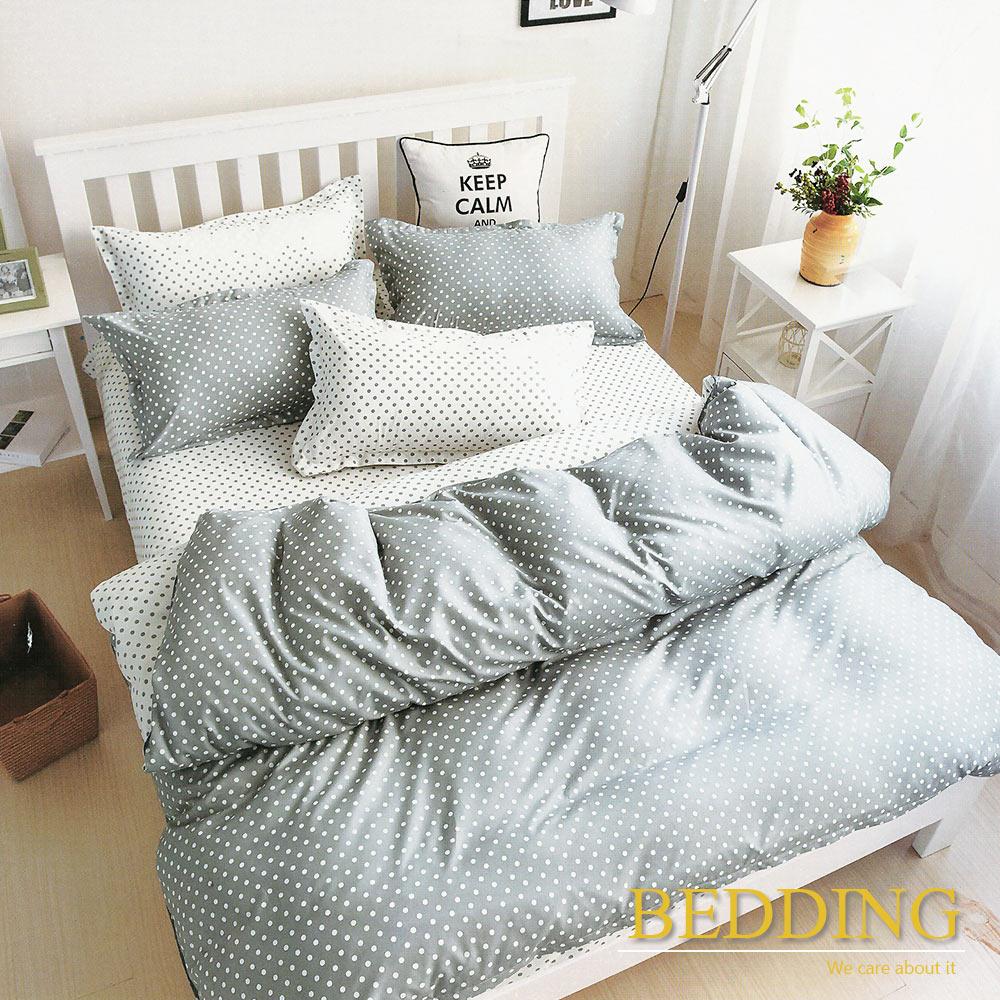 BEDDING  活性印染 雙人床包涼被組 永恆-灰