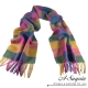 A-Surpriz 彩虹格紋厚織純羊毛圍巾(
