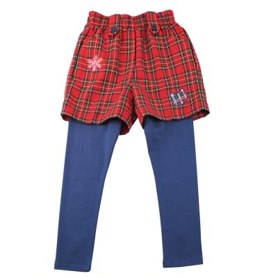 愛的世界 MYBEAR 英格蘭兩件式套裝(短褲+內搭褲)/10-12歲-台灣製-