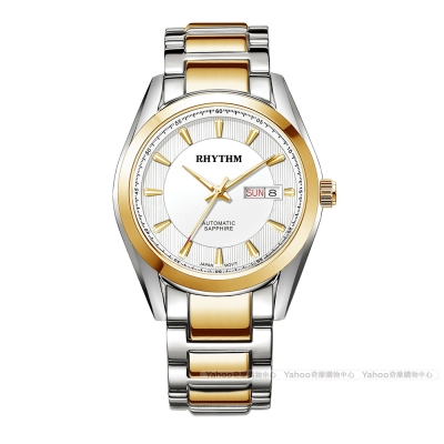 RHYTHM日本麗聲 優雅奢華時尚自動機械腕錶A1403S-03-金/33mm