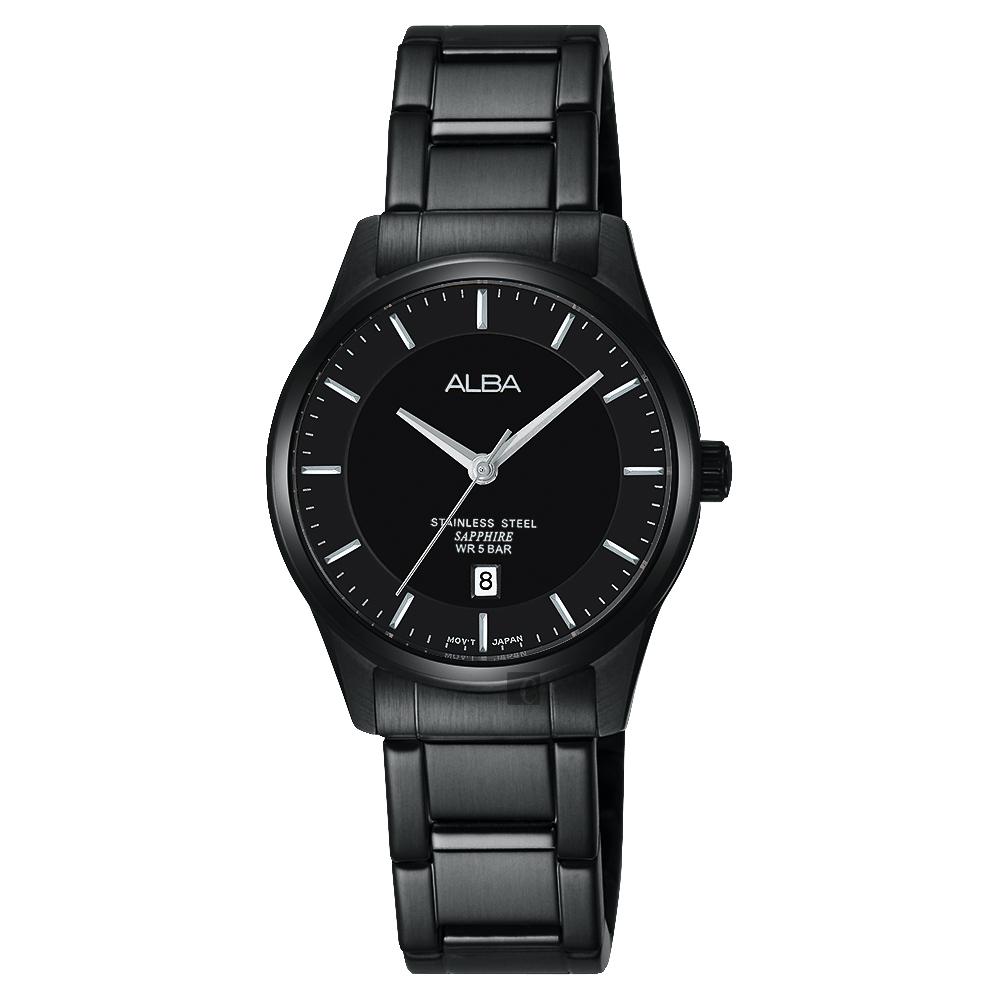 ALBA 城市簡約時尚女錶(AH7M19X1)-黑/28mm